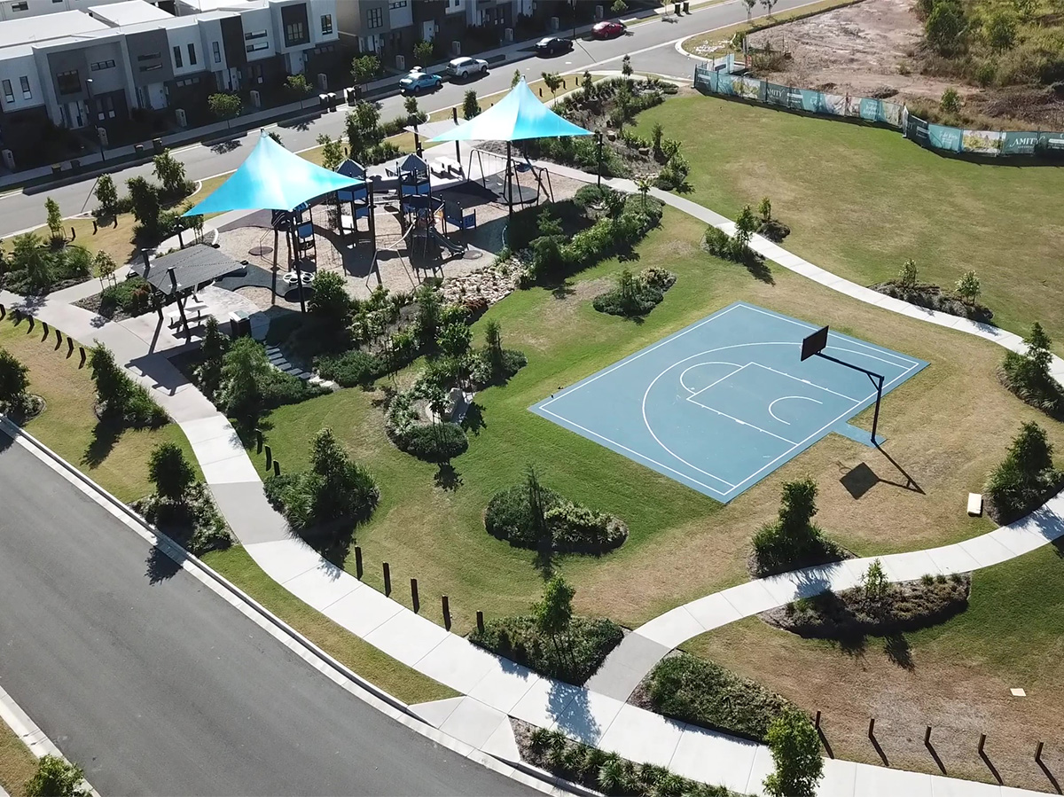 Aerial of Amity Park